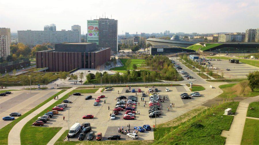 katowice, strefa kultury, parking przy nospr